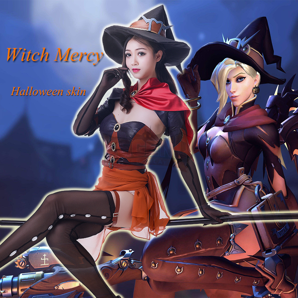 Cosplay legend Mercy cosplay costume Angela Ziegler Halloween witch skin cosplay costume full set adult costume