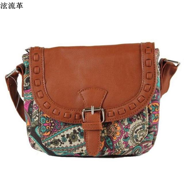 Canvas Printed Women Travel Messenger Bag Small Shoulder Bag Casual Sling Bag 4
