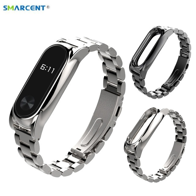 2017 New Original Smarcent Xiaomi Band 2 Wristbands Stainless Steel Bracelet Mi Band 2 Wrist Straps