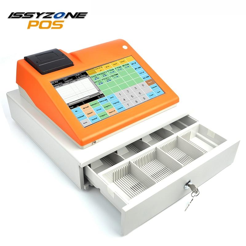 ISSYZONEPOS IPCR004S 11 pouce Caisse Enregistreuse Machine Tactile POS Système Tout en Un bulit-en Thermique Réception Imprimante Restaurant magasin