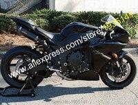 Hot vente, Pour Yamaha YZF - R1 2012 2013 2014 ASB pièces YZF R1 tout noir carrosserie carénage Kit ( moulage par Injection )