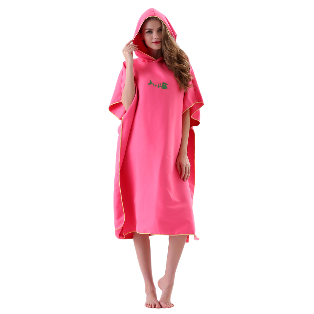 Perfeclan Wetsuit Changing Robe Poncho with Hood Beach Surf Poncho Robe for Water Sport Kite Surf Swimming
