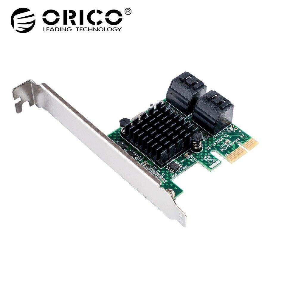 ORICO 4 порта SATA3.0 PCI-E Плата расширения 6 Гбит/с PCI Express контроллер карта SATA III 3,0 конвертер Плата расширения для ПК