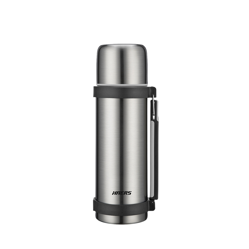 Haers 1200ml Thermos With Handgrip Double Wall Stainless Steel Thermos Bottle Coffee Tea Travel Gifts Large Capacity Thermos in Vacuum Flasks Thermoses from Home Garden