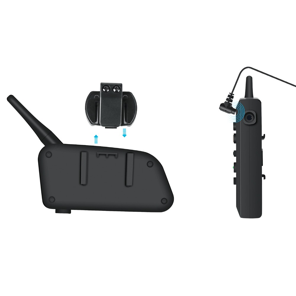 VNETPHONE 2PCS Motorrad Intercom Helm Headset Helm Lautsprecher Sprech Bluetooth Headset Drahtlose 1200m Moto Zubehör