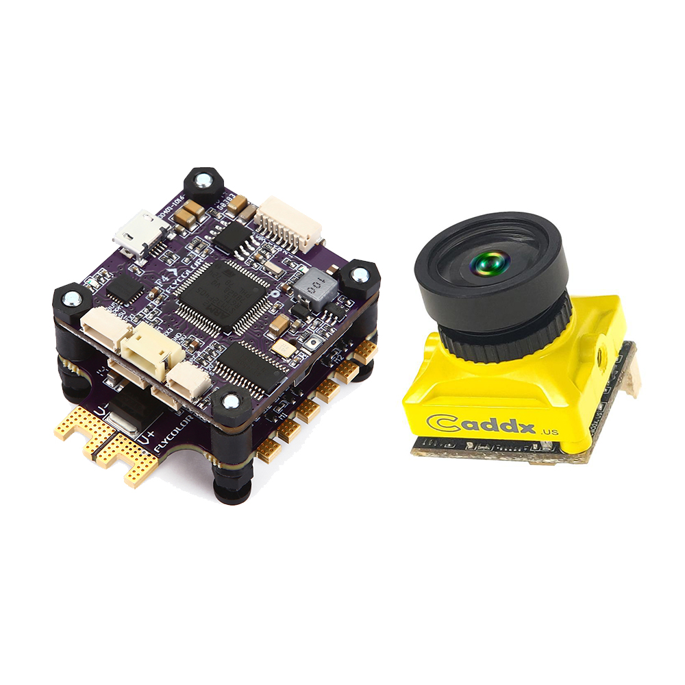 Flycolor X-Tower Flytower F4 Flight Controller 40A BLHeli_32 ESC & Caddx Turbo Micro S2 FPV Camera flight fgus 15