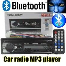 2015 nueva Radio de Coche bluetooth MP3 FM/USB una din en el tablero puerto USB 12 V Audio Del Coche bluetooth manos libres de coche radios blueooth aux en