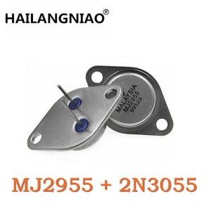 Image 1 - 10Pair/PCS MJ2955 PNP 10PCS + 2N3055 NPN 10PCS Transistors made in china