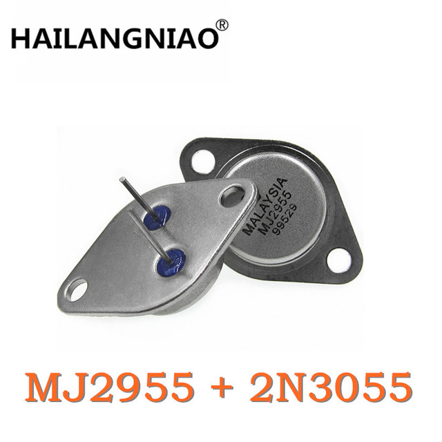 10Pair/PCS MJ2955 PNP 10PCS + 2N3055 NPN 10PCS Transistors made in china