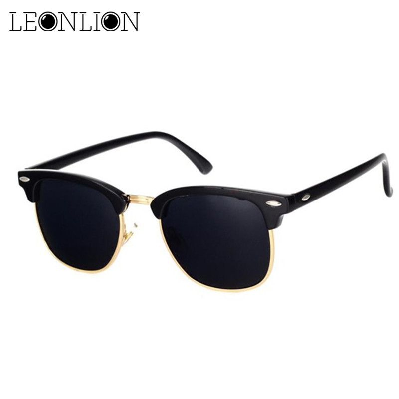 US $2.85 5% OFF|LeonLion  Polarized Semi Rimless Sunglasses Women/Men Polarized UV400 Classic Brand Designer Retro Oculos De Sol Gafas|Men's Sunglasses| |  - AliExpress