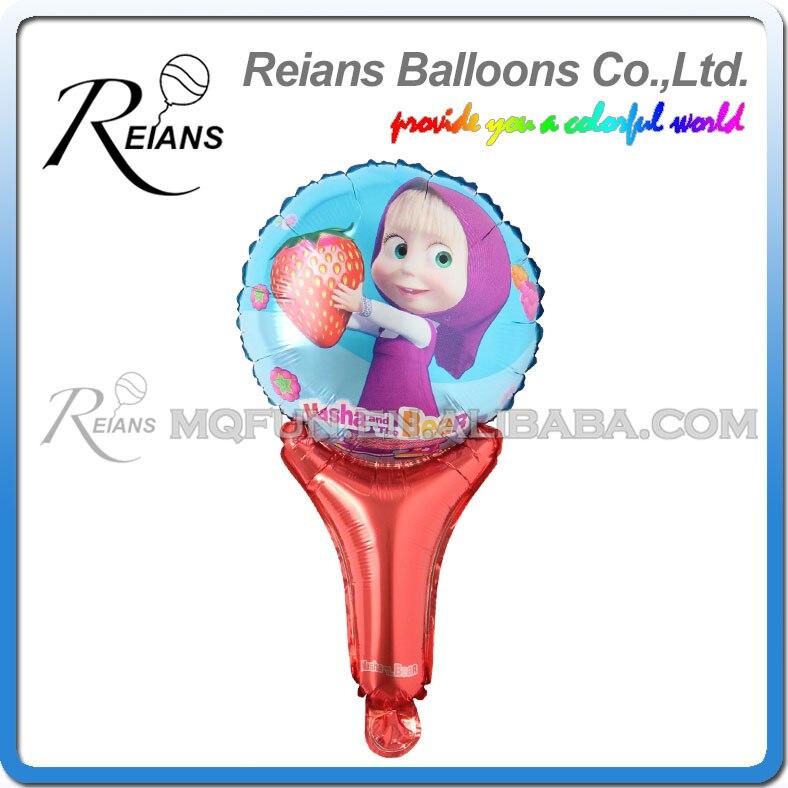 Русский мультфильм Маша и Медведь День рождения украшения дети Фольга ручной шар вечерние поставки Свадебные Baby Shower Декор