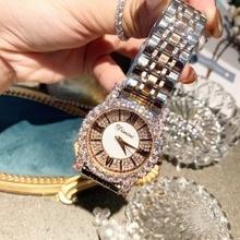 Classic Brand Business Women Stainless Steel Diamond Watches Vintage Roman Number Neutral Watch Crystals Wrist watch Quartz 3Bar