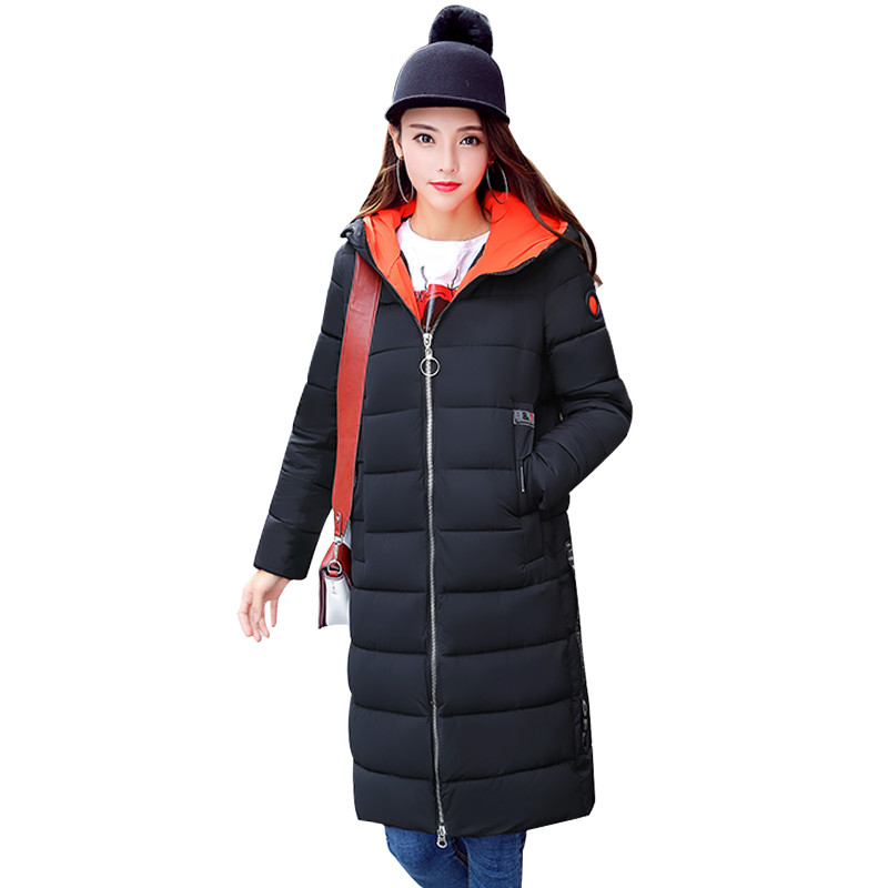 Hooded Warm Medium-long Parka Preppy Style Casual Student's Jacket Women Cotton Padded Jaqueta Feminina Wadded Coat TT3448 tt tf ths 02b hybrid style black ver convoy asia exclusive