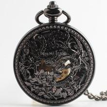 10 шт/партия винтажные горячие продажи выдолбленные Цветочные механические ручные карманные часы по заводской цене старинные карманные часы