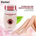 Kemei 3 em 1 removedor de calos do pé senhora mulheres depiladora barbear cabelo máquina de remoção de cabelo feminino ferramentas de beleza para a pele