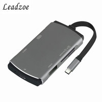 USB C Hub Type C Adapter with Type C Charging Port&4K HDMI&SD/Micro SD/TF Smart Card Reader and 2 USB 3.0 HUB Port Splitter