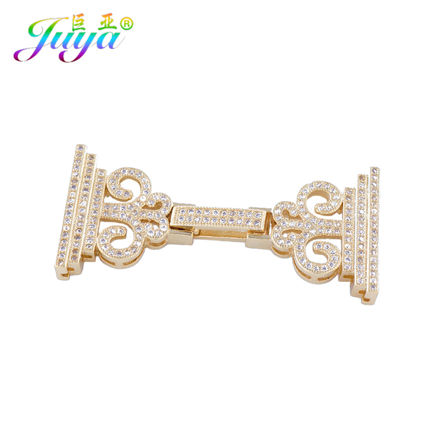 Juya DIY Pearls Jewelry Making Fastener Clousure Clasp Accessories For  Women Multiple Rows Beads Pearl Bracelet Necklace Making 8cec08ba3d29