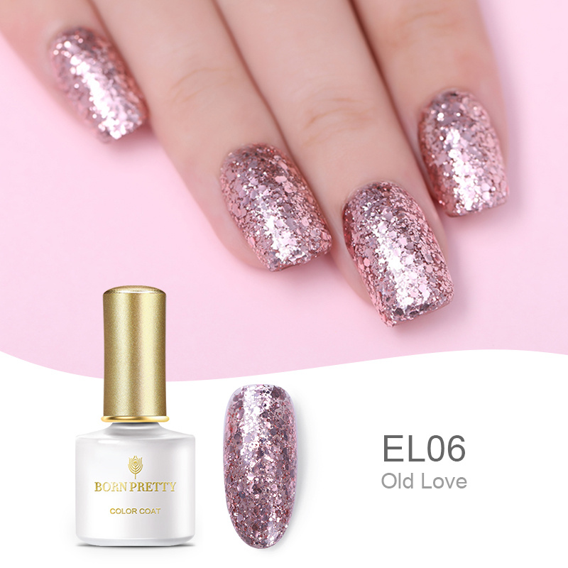 Dropwow BORN PRETTY Nude Rose Gold Soak Off UV Gel Glitter Nail Art ... 6d36f0a31bb6