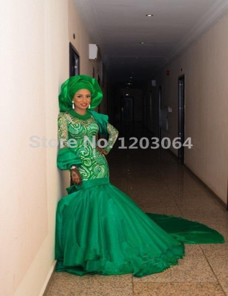 2016 Mermaid Beads Pearls Rhinestone Dubai Wedding Dinner dress The ...