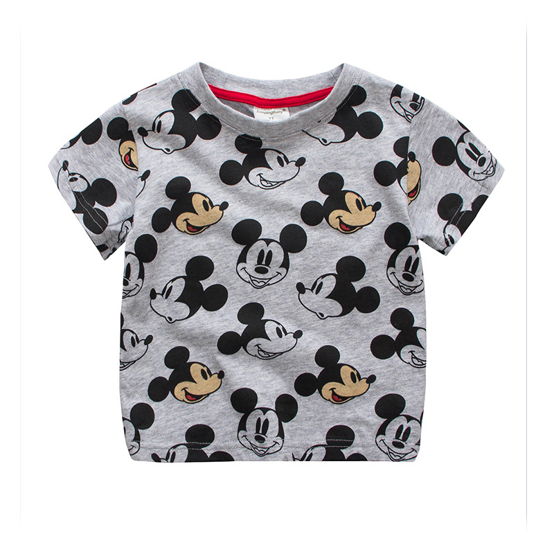 2017 Summer Children Girls T Shirt Short Sleeve Kids T-shirts Cotton Top Tees Cartoon Boys Clothes Micky Mouse style T-Shirt summer kids clothes sport sets for girls sea short sleeve t shirts denim shorts children korea style cotton clothing suits