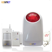 433mhz Wireless 110db Flashing Alarm Strobe Siren For Home Security Alarm System Suit For Host Keypad