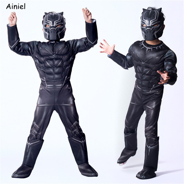 Halloween Black Panther Muscle Costume