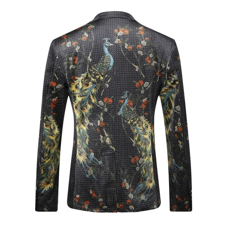 2016 new arrival Italian style printed velvet casual blazer men blazer masculin,jacket men plus-size M,L,XL,XXL,XXXL 1368-46