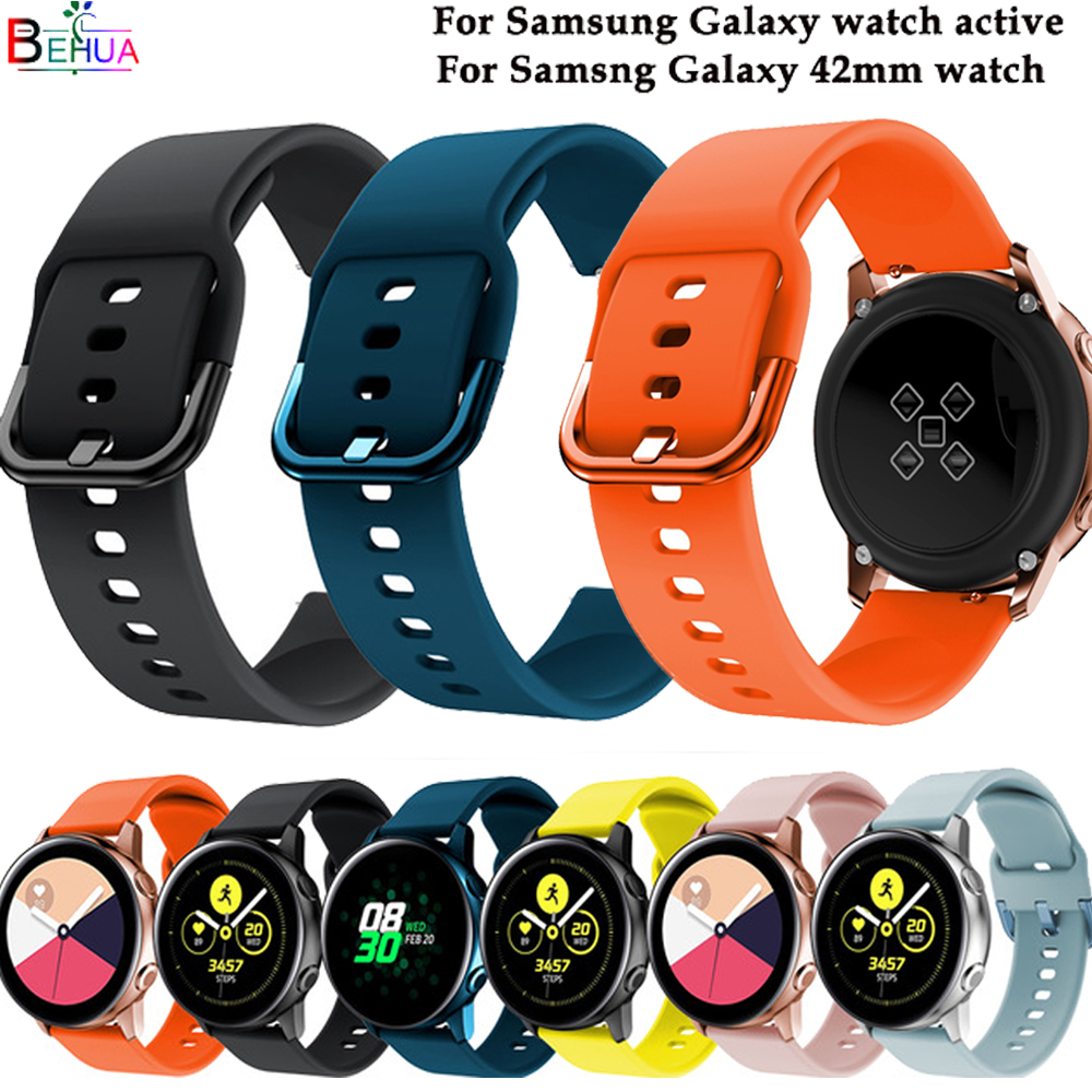 Galaxy 42mm watch band For Samsung Gear S2 Classic Frontier silicone sport strap For Samsung galaxy watch active wristband band