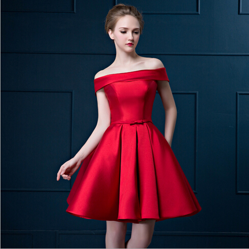 New Collection Formal Short Bridesmaid Dresses Strapless Satin Slim Waistline Compeive Price Hot Ing In From Weddings Events On