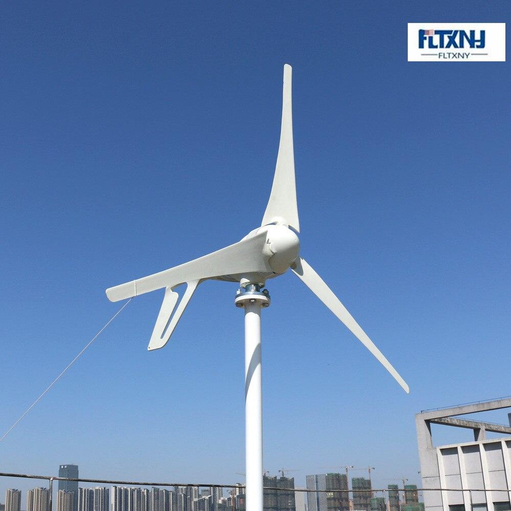 Zrównoważonego turbiny wiatrowej 5 ostrza 3 ostrza mały generator dla wiatr słoneczny hybrydowy latarni system400w 12 v/24 v /48v