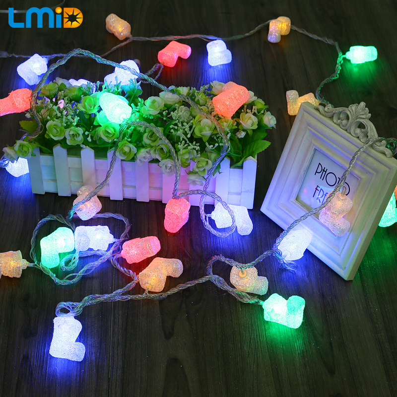 LMID 5M 30LEDs Xmas Sock LED String Light Christmas lights Indoor Decoration Fairy Lights Wedding Holiday Party Decoration Lamps