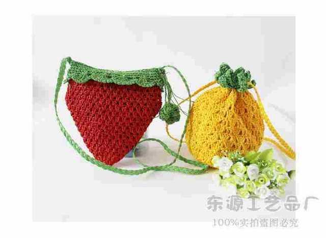 Neue häkeln obst schöne ananas erdbeer handy umhängetasche Kleingeld ...