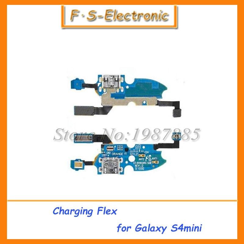 10 шт./лот Micro Зарядка через USB Зарядное устройство Порты и разъёмы Dock Connector шлейф для Samsung Galaxy S4 Mini i9190 i9195 Замена