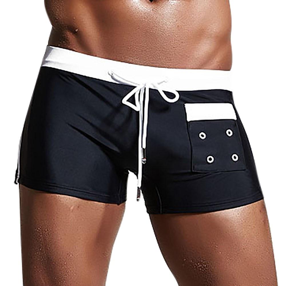 aa9e2d45b0 2018 Mens Breathable Swim Trunks Pants Smelting Swimwear Shorts Slim Wear  Bikini Swimsuit Briefs Large Man Beach Shorts Trunks