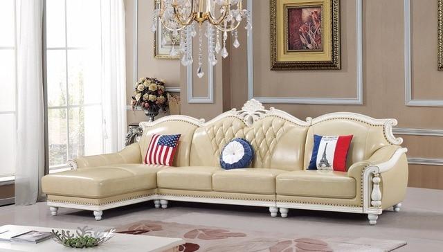 Amerikanischen Ledercouchgarnitur Wohnzimmer Sofa China Holzrahmen L Form Ecksofa