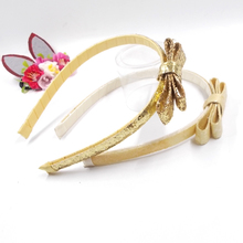 Fashion Women Lady Sequin Bow Glitter Metallic Hair Band Mermaid Headband For Kids Bows Hairbands Girls Accessories 1p