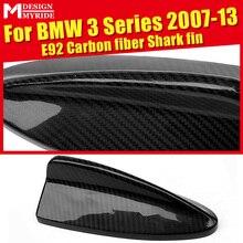 For BMW E92 Carbon Fiber Antenna Cover 320i 320ixD 323i 325i 328i 335d 335i 335is Shark Fin Auto Roof Antenna Decoration 2007-13 стоимость
