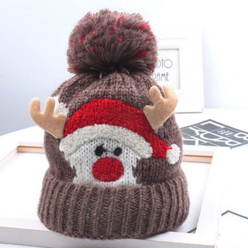 Christmas Toddler Baby Girls Boys Knitted Hats Cap Xmas Winter Warm Hat Gifts