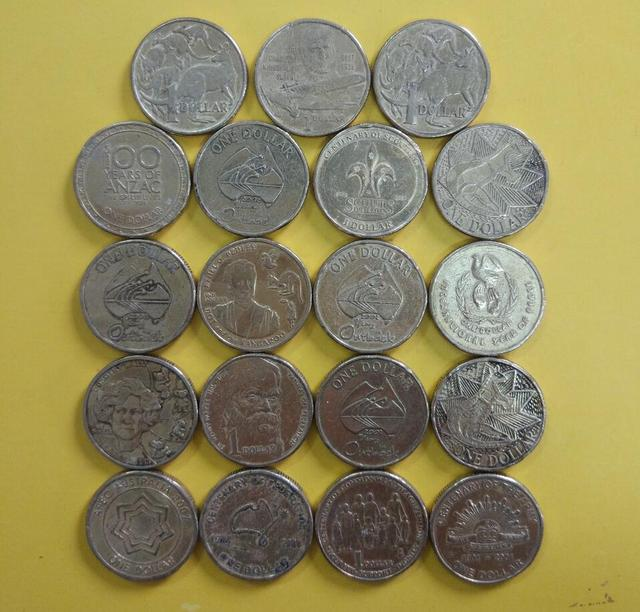 Australia 1 Dollar Coin Commonwealth Country Coins Collection World 100 Real And Original Used Old 1pcs