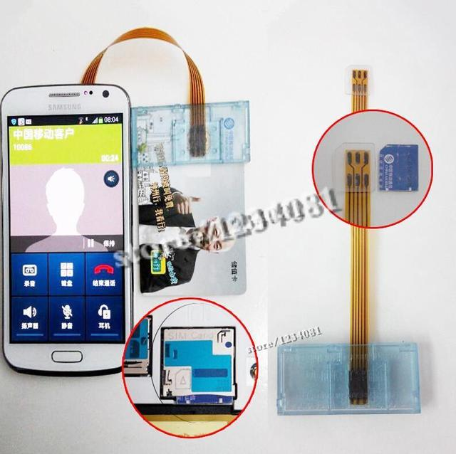 Micro sim card size card adapter opposite direction sim card kilogram-calorie device gsm cdma wcdma card adapter for Samsung