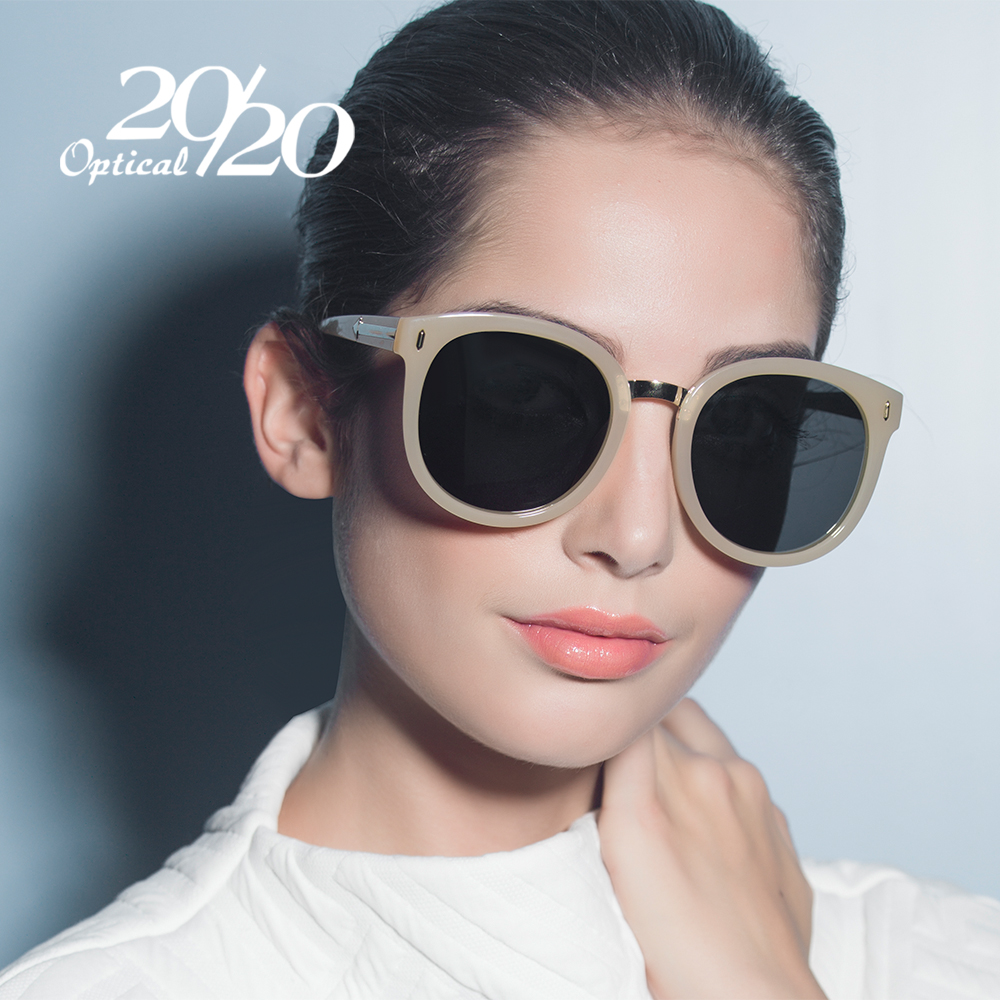 20/20 Vintage Polarized Sunglasses Women Brand Designer Sun Glasses For Lunette De Soleil Round 58086