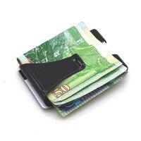 Front Pocket Purse RFID Blocking Credit Men Money Clip Simple Slim Wallet Carbon Fiber FBE3