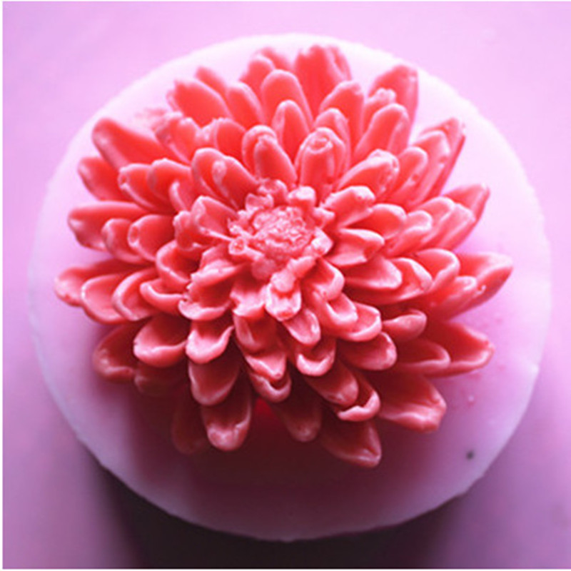 8.2*8.2*3.2cm 3D Mold Flower Silicone Mould Chocolate Mould Lace Mould Cake Decorating Mould Handmade Diy Soap Mold