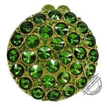 Round Luxury Crystal Diamond turquoise Clutch Evening Bag wedding Party Purse Luxury Full Crystal Stone Ladies