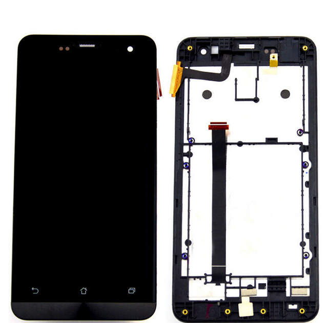 100% Original Touch Screen+lcd Display Panel Screen Assembly with frame For Asus Zenfone 5 A500cg A501cgl T00j Free Shipping