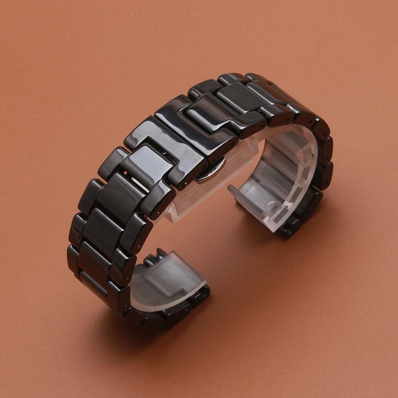 Matte Sort Armbåndsur av keramiske eller polerte klokker for smarte - Tilbehør klokker - Bilde 4