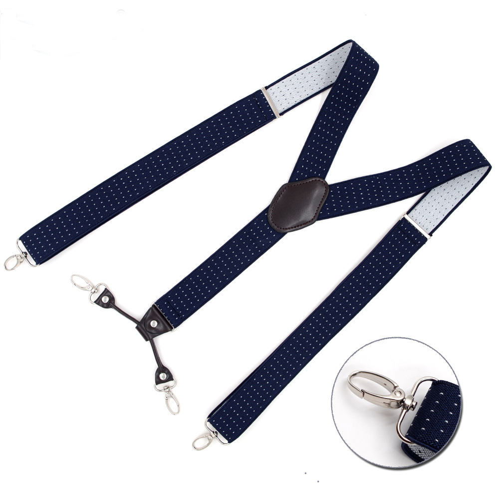 Mans Suspenders New 4 Clips Braces Elastic Adjustable Suspensorio Fashion Tirantes Casual Trousers ligas cowboys Gift