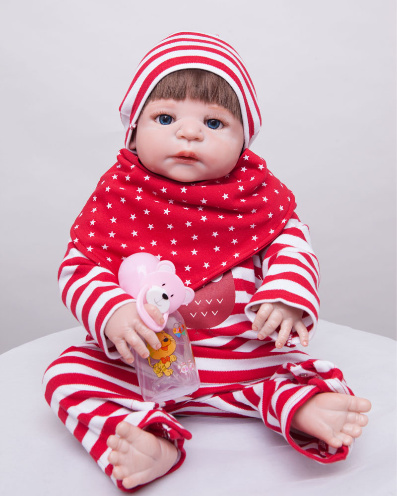 55cm Full Body Silicone Reborn Baby Doll Toys Newborn Girl Babies Birthday Christmas Gift Girls Brinquedos Bathe Shower Toy 55cm full body silicone reborn baby doll toys newborn girl baby doll lovely child birthday gift bathe toy girls brinquedos