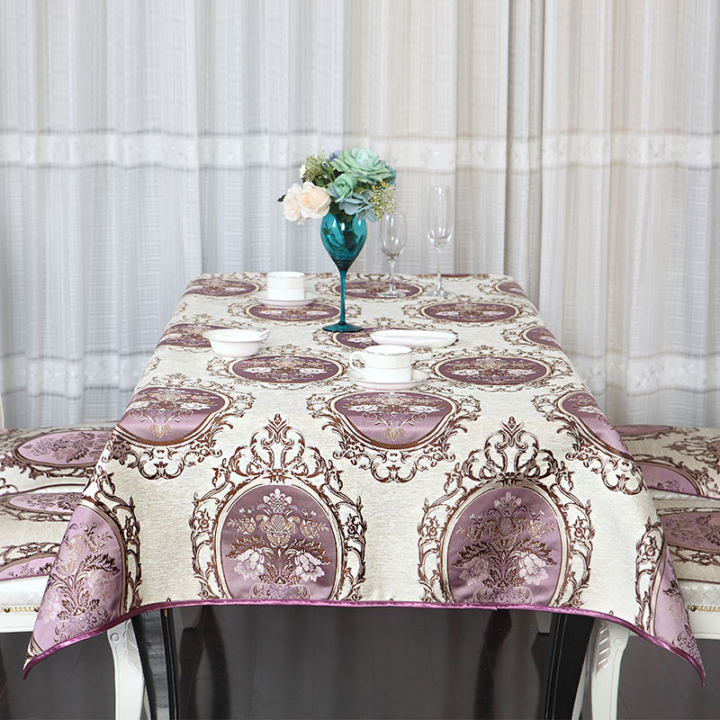 European Trim Rectangle Tablecloths High Grade Chenille Dining Table Cover  Wedding TV Cabinet Elegant Table