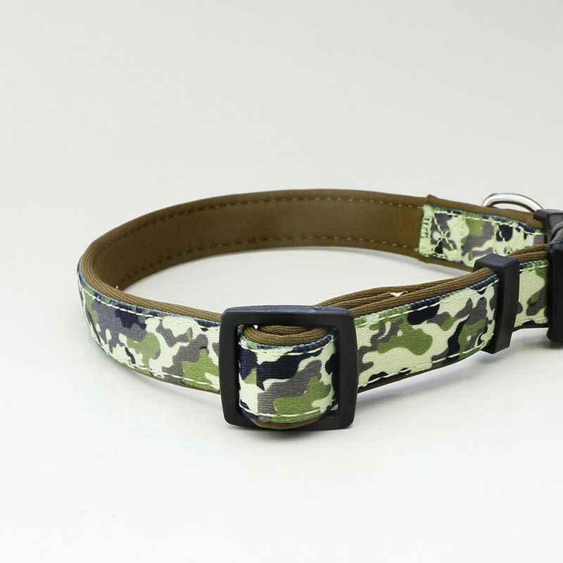 Cane di animale domestico di New Camouflage Pattern Collare di Nylon Guinzaglio Collana per Cucciolo di Cane Decorazione Esterna Tag Guida Accessori